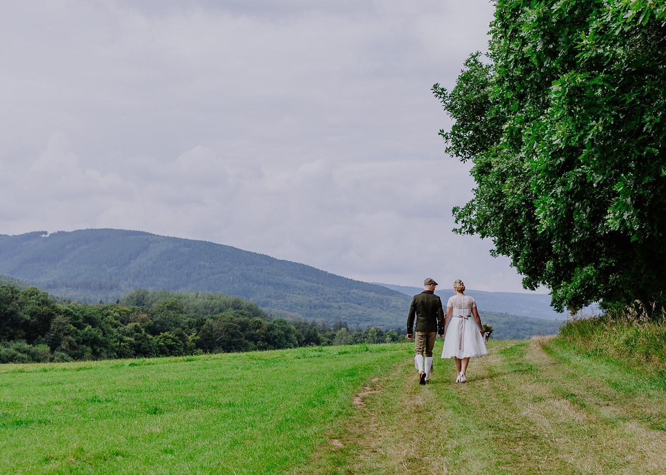Brautpaar Hochzeit Wernigerode Landschaft